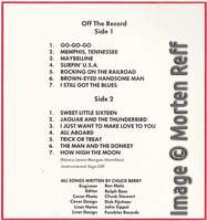 Chuck Berry: On Stage - Artone (early version) track listing