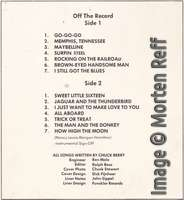 Chuck Berry: On Stage - Artone (late version) track listing