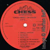Chuck Berry: On Stage - Artone (late version) label