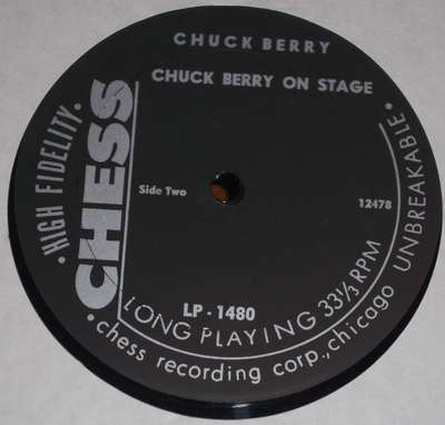 Chuck Berry: On Stage - original label