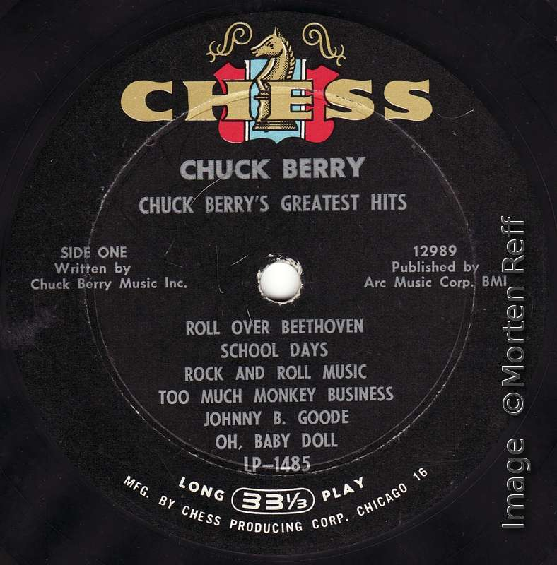 Cover And Label Variants Of Chess Lp 1485 Greatest Hits Update
