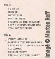 Chuck Berry: On Stage - Australia (late version) track listing