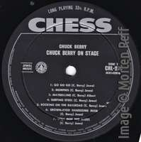Chuck Berry: On Stage - Australia label side 1