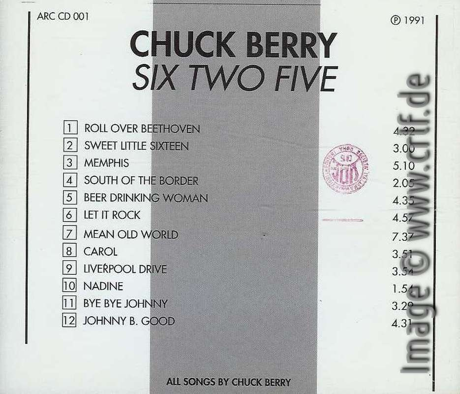 The Chuck Berry Vinyl Bootlegs, Vol  2: Six Two Five - The