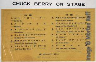 Chuck Berry: On Stage - Japan - sticker